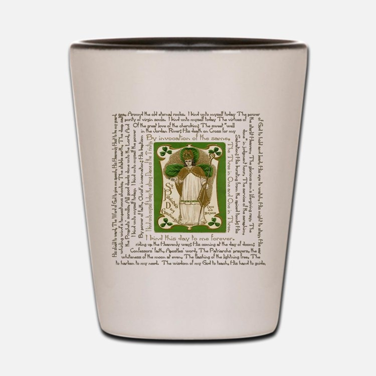 St. Patricks Breastplate Square Shot Glass