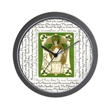 St. Patricks Breastplate Square Wall Clock