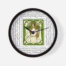 St. Patricks Breastplate Square Wall Clock