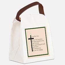 Bible Verse John 15 5 Canvas Lunch Bag