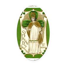St. Patricks Breastplate Large Oval Car Magnet