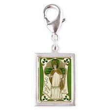 St. Patricks Breastplate Lar Silver Portrait Charm
