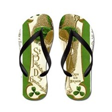 St. Patricks Breastplate Large Flip Flops