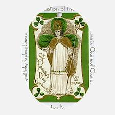 St. Patricks Breastplate Large Oval Ornament