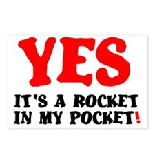 YES - ITS A ROCKET IN MY  Postcards (Package of 8)