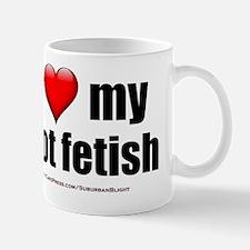 I Love My Foot Fetish lightapparel Mug