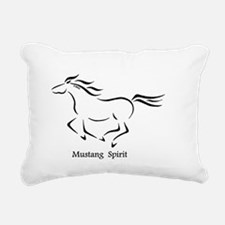 Mustang Spirit Rectangular Canvas Pillow
