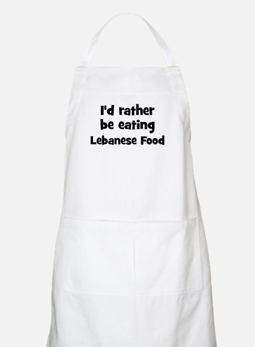 Rather be eating Lebanese Fo BBQ Apron