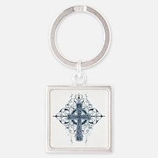 Celtic Cross Square Keychain