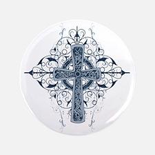 "Celtic Cross 3.5"" Button"