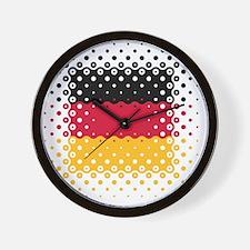 Flag of Germany / Deutschlandflagge Wall Clock