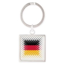 Flag of Germany / Deutschlandflagg Square Keychain