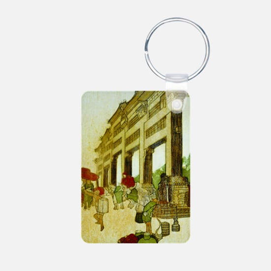 Temple Gate Framed Keychains