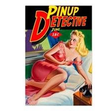 Pinup Detective Pulp Maga Postcards (Package of 8)