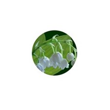 lily of the valley shower curtain Mini Button