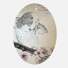 Parakeet 007 - Breeze Oval Ornament