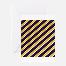Team Colors 1...Yellow and purple Greeting Cards