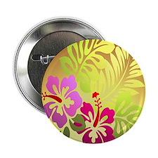 "tropical flower shower curtain 2.25"" Button"