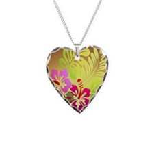 tropical flower shower curtai Necklace