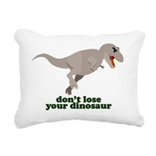 Don't Lose Your Dinosaur Rectangular Canvas Pillow
