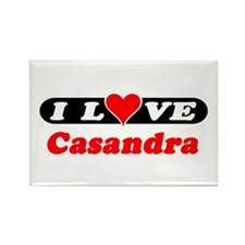 I Love Casandra Rectangle Magnet