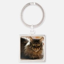 Maine Coon Square Keychain