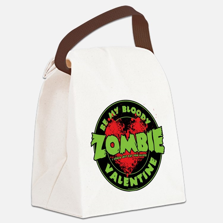 Be My Bloody Zombie Valentine! Canvas Lunch Bag