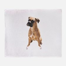 Cute Boxer dogs Throw Blanket