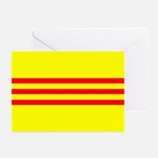 South Vietnam flag Greeting Cards (Pk of 10)