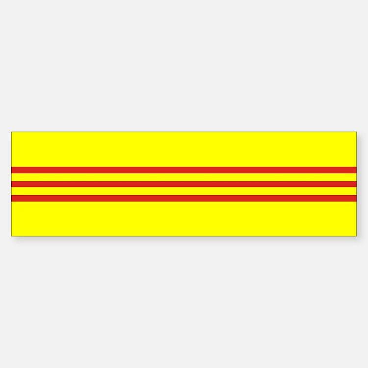 South Vietnam flag Bumper Bumper Sticker