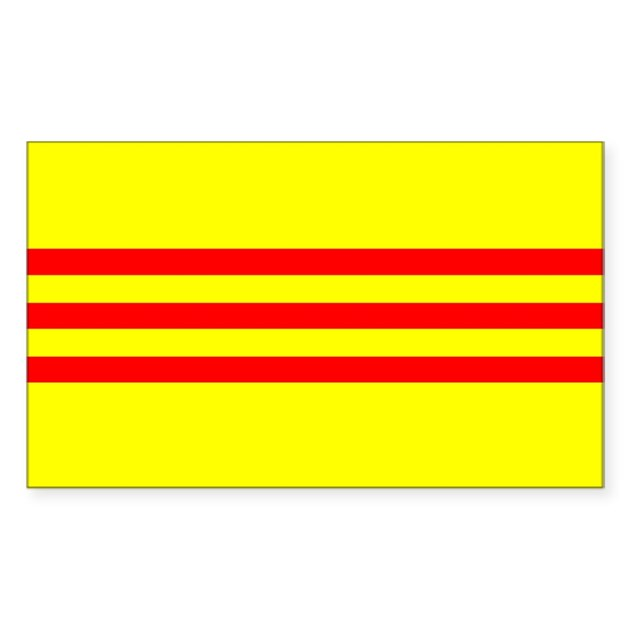 South vietnam flag sticker rectangle by allcountries for Vietnam flag coloring page