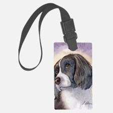 Springer spaniel waiting for a w Luggage Tag