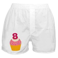 8th Birthday Cupcake Boxer Shorts