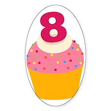 8th Birthday Cupcake Decal