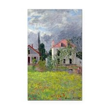 Monet - Houses at Argenteuil Rectangle Car Magnet