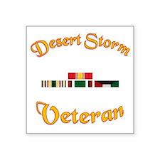 "Desert Storm Mug Square Sticker 3"" x 3"""