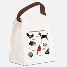 Virginia State Animals Canvas Lunch Bag