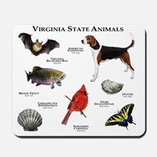 Virginia State Animals Mousepad