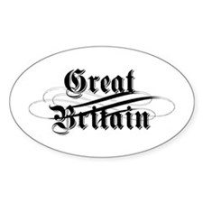Great Britain Gothic Oval Decal