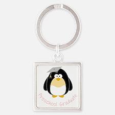 Graduation Penguin Square Keychain