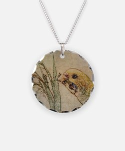 Parakeet 005 - With Grains Necklace