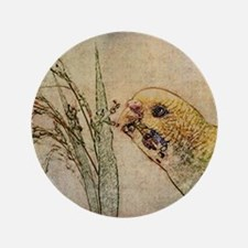 "Parakeet 005 - With Grains 3.5"" Button"
