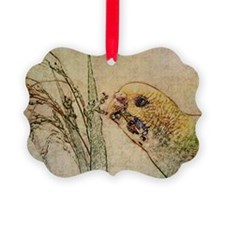 Parakeet 005 - With Grains Ornament