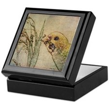 Parakeet 005 - With Grains Keepsake Box