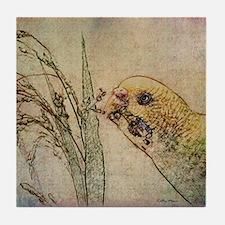 Parakeet 005 - With Grains Tile Coaster
