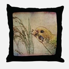Parakeet 005 - With Grains Throw Pillow