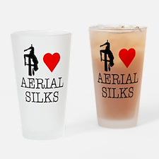 I Love Aerial Silks Drinking Glass