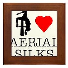 I Love Aerial Silks Framed Tile