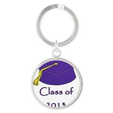 Class of 2013 Graduation Supplies Round Keychain