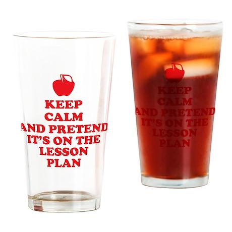 Keep Calm Teachers Drinking Glass